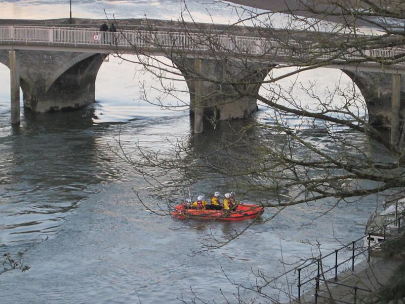 Emergency services recovered the two-year-old from the river (Picture: Wales News Service)