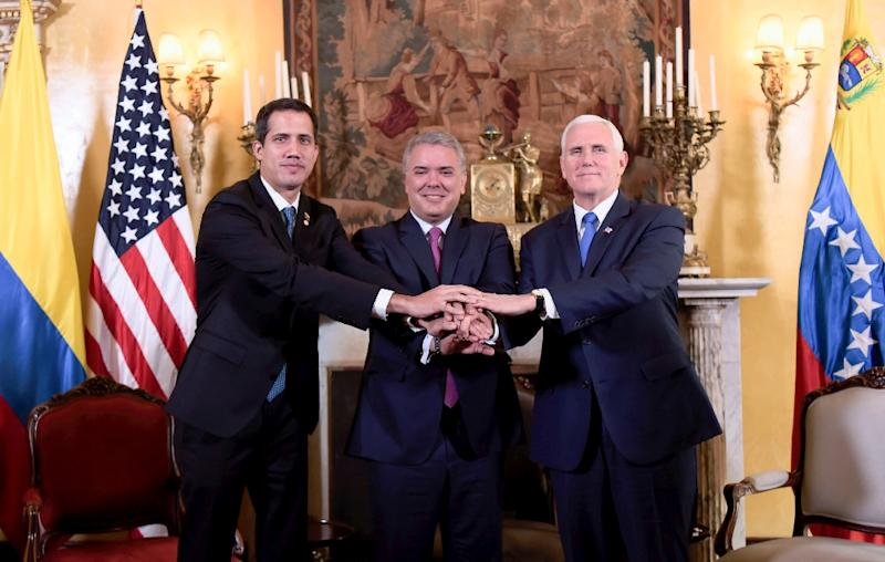 Venezuela's Guaido meets Pence in anti-Maduro strategy talks