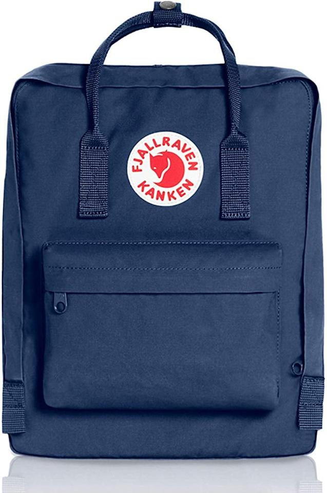 """<p>This popular <a href=""""https://www.popsugar.com/buy/Fjallraven-Kanken-Classic-Backpack-509029?p_name=Fjallraven%20Kanken%20Classic%20Backpack&retailer=amazon.com&pid=509029&price=80&evar1=moms%3Aus&evar9=46828664&evar98=https%3A%2F%2Fwww.popsugar.com%2Ffamily%2Fphoto-gallery%2F46828664%2Fimage%2F46829056%2FFjallraven-Kanken-Classic-Backpack&list1=shopping%2Cgifts%2Camazon%2Cgift%20guide%2Cgifts%20for%20teens&prop13=mobile&pdata=1"""" rel=""""nofollow"""" data-shoppable-link=""""1"""" target=""""_blank"""" class=""""ga-track"""" data-ga-category=""""Related"""" data-ga-label=""""https://www.amazon.com/Fjallraven-Classic-Backpack-Everyday-Graphite/dp/B003NF2534?ref_=ast_sto_dp&amp;th=1"""" data-ga-action=""""In-Line Links"""">Fjallraven Kanken Classic Backpack</a> ($80) comes in tons of colors.</p>"""