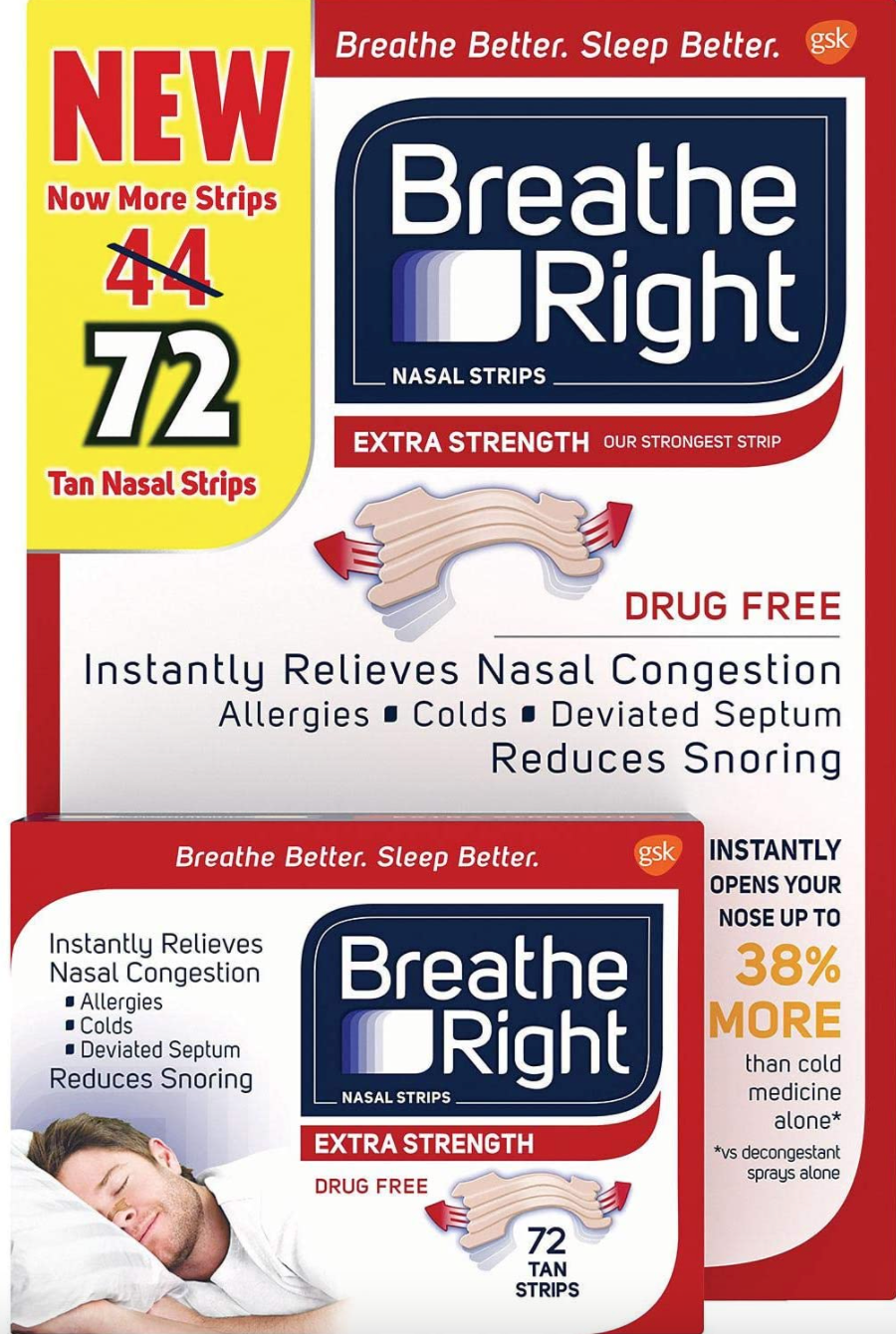 Breathe Right Extra Strength Nasal Strips (Photo via Amazon)