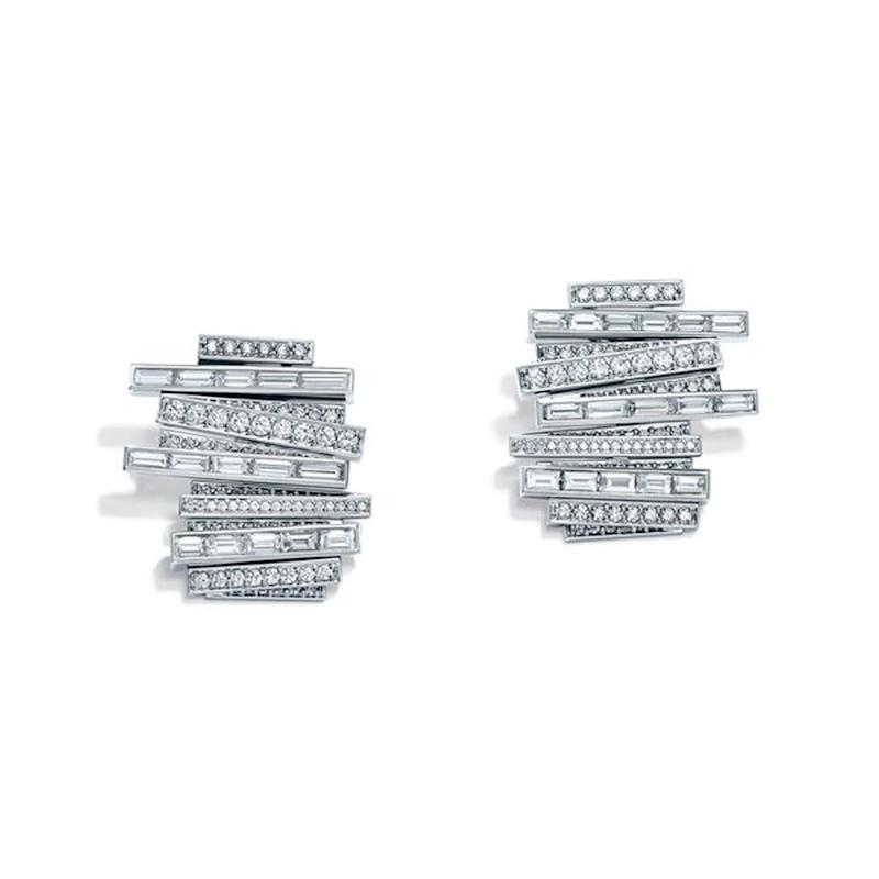 One-of-a-kind diamond earrings from Tiffany & Co.'s new Blue Book collection.