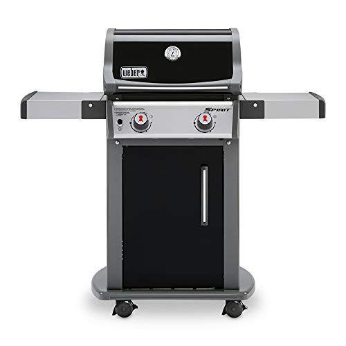 """<p><strong>Weber</strong></p><p>amazon.com</p><p><strong>$469.00</strong></p><p><a href=""""https://www.amazon.com/dp/B0098HR0PY?tag=syn-yahoo-20&ascsubtag=%5Bartid%7C2089.g.36490432%5Bsrc%7Cyahoo-us"""" rel=""""nofollow noopener"""" target=""""_blank"""" data-ylk=""""slk:Shop Now"""" class=""""link rapid-noclick-resp"""">Shop Now</a></p><p>If you're an apartment dweller or condo owner and need something a bit smaller to conserve space, you can't go wrong with this two-burner gas grill from Weber. It still offers a generous 360 square inches of cooking space, a warming rack, and is equipped with heavy-duty caster wheels to make it easier to move around. There's even six tool hooks for your grilling gear and an enclosed case for your propane tank!</p>"""