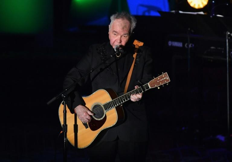 US singer-songwriter John Prine -- seen here in 2019 -- won two posthumous Grammys