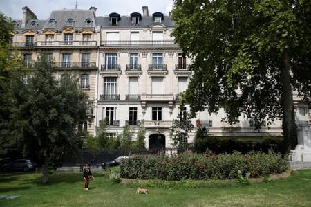 Exterior view of a 5-storey building on Avenue Foch in Paris' 16th district, location of an apartment that belonged to Jeffrey Epstein