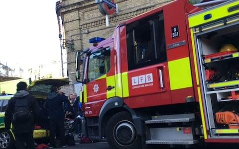 emergency services attending an incident at Parsons Green station - Credit: Richard Aylmer-Hall/PA