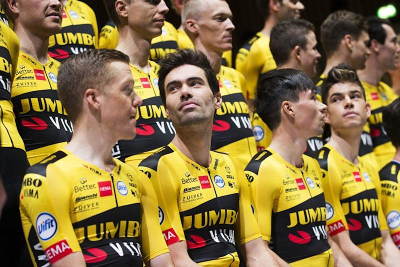 Steven Kruijswijk, Tom Dumoulin and Primoz Roglic will line up for Jumbo-Visma as co-leaders for the 2020 Tour de France