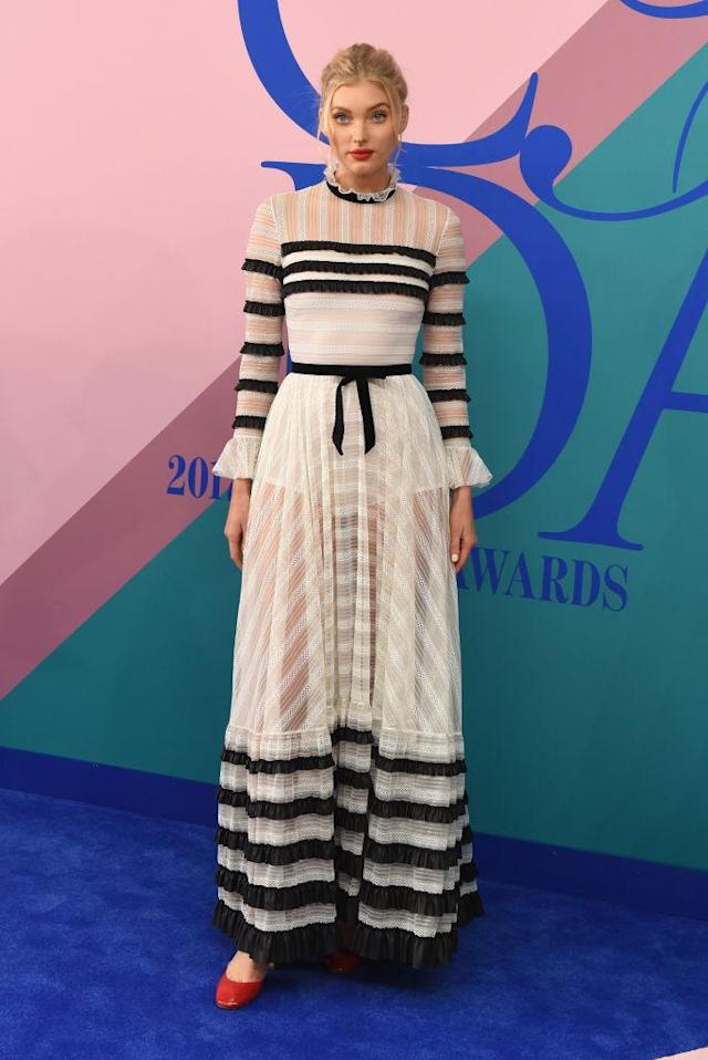 <p>The model is frothy and ladylike. (Photo: Getty Images) </p>