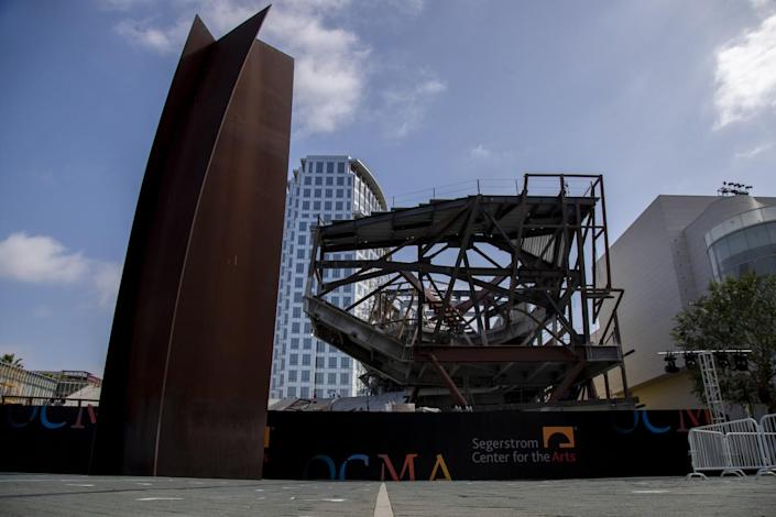 The new Orange County Museum of Art, under construction at Segerstrom Center for the Arts.