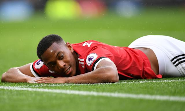 Manchester United's French striker Anthony Martial, who may be used as bait in a move for Ivan Rakitić.