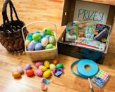 "<p>In addition to hiding little candy and prizes with the eggs, you can also slip a raffle ticket into each one. Then, after all of the eggs have been found, you can hold a raffle for some bigger <a href=""https://www.goodhousekeeping.com/holidays/easter-ideas/g1027/10-easter-baskets-and-fillers/"" rel=""nofollow noopener"" target=""_blank"" data-ylk=""slk:Easter gifts for kids"" class=""link rapid-noclick-resp"">Easter gifts for kids</a>. </p><p><em><a href=""https://researchparent.com/raffle-ticket-egg-hunt/"" rel=""nofollow noopener"" target=""_blank"" data-ylk=""slk:Get the tutorial at Research Parent »"" class=""link rapid-noclick-resp"">Get the tutorial at Research Parent »</a></em></p>"