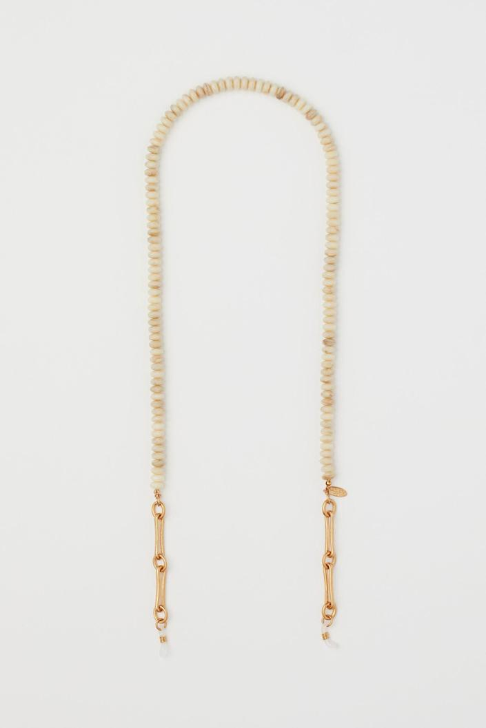 <p>This <span>Eyeglass Chain</span> ($18) will take your glasses up a notch.</p>