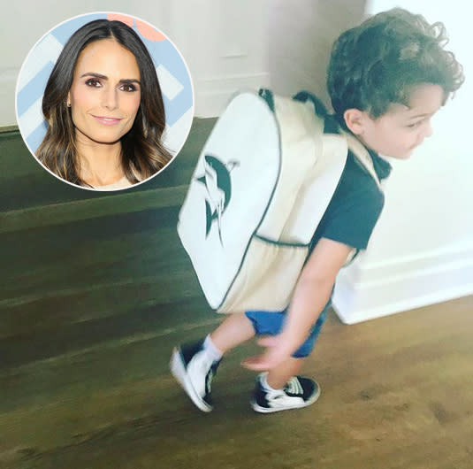 "<p>Jordana Brewster declared her older son ""ready ready"" — and he looked it with his pack on and new kicks. (Photos: <a href=""https://www.instagram.com/p/BYqpENMHNn6/?hl=en&taken-by=jordanabrewster"" rel=""nofollow noopener"" target=""_blank"" data-ylk=""slk:Jordana Brewster via Instagram"" class=""link rapid-noclick-resp"">Jordana Brewster via Instagram</a>/Getty Images) </p>"