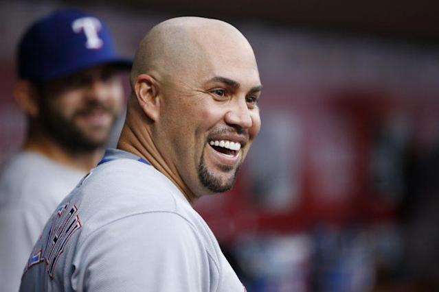This is Carlos Beltran's usual look. (Getty Images/Joe Robbins)