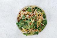 """Bookmark this one for the days after Thanksgiving. A miso-soy dressing, sliced chiles, and a handful of cilantro give it tons of rich flavor. Or make it for the big day and tell everyone it's salad for thanksgiving dinner! <a href=""""https://www.epicurious.com/recipes/food/views/spicy-cabbage-salad-with-turkey-and-peanuts?mbid=synd_yahoo_rss"""" rel=""""nofollow noopener"""" target=""""_blank"""" data-ylk=""""slk:See recipe."""" class=""""link rapid-noclick-resp"""">See recipe.</a>"""