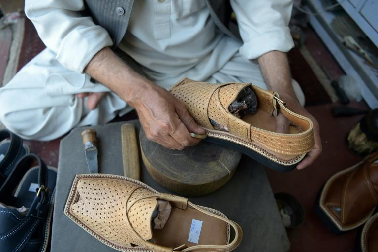 Christian Louboutin shoes cost upward of $500 in upmarket boutiques, while the traditional Peshawari chappal is priced around $5.50 in Pakistan