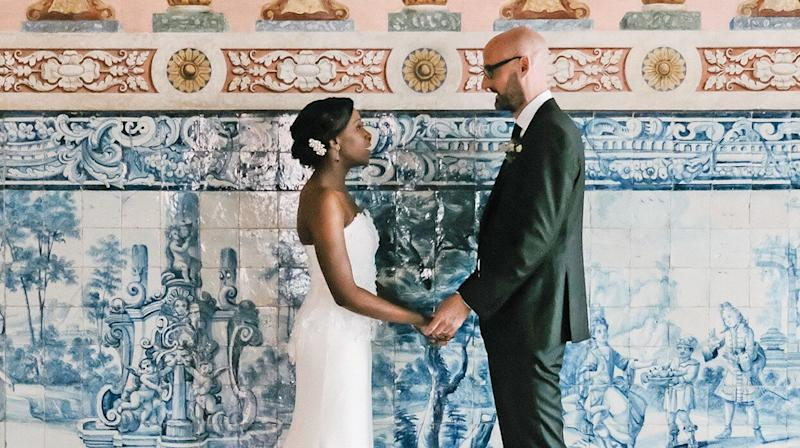 A Flower-Filled Wedding at a 17th-Century Palace in Lisbon, Portugal