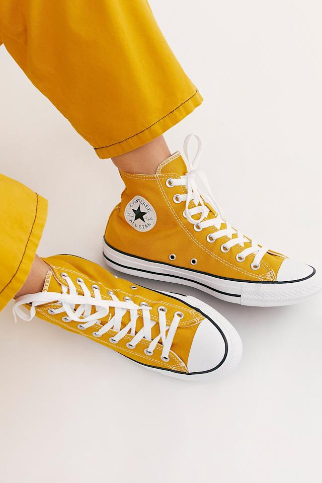 """<p>These <a href=""""https://www.popsugar.com/buy/Charlie-Hi-Top-Converse-Sneakers-490373?p_name=Charlie%20Hi%20Top%20Converse%20Sneakers&retailer=freepeople.com&pid=490373&price=60&evar1=fab%3Aus&evar9=44311634&evar98=https%3A%2F%2Fwww.popsugar.com%2Ffashion%2Fphoto-gallery%2F44311634%2Fimage%2F46754588%2FCharlie-Hi-Top-Converse-Sneakers&list1=shopping%2Cshoes%2Csneakers%2Choliday%2Cgift%20guide%2Cfashion%20gifts%2Cgifts%20for%20women&prop13=mobile&pdata=1"""" rel=""""nofollow"""" data-shoppable-link=""""1"""" target=""""_blank"""" class=""""ga-track"""" data-ga-category=""""Related"""" data-ga-label=""""https://www.freepeople.com/shop/charlie-hi-top-converse-sneaker/?category=SEARCHRESULTS&amp;color=070"""" data-ga-action=""""In-Line Links"""">Charlie Hi Top Converse Sneakers</a> ($60) go with just about anything.</p>"""