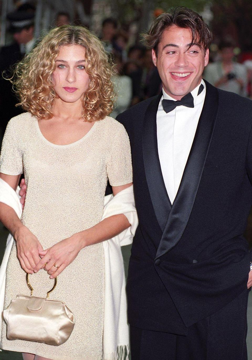 <p>In '91, odds are you wanted a bag that matched your entire ensemble from head to toe, similar to Sarah Jessica Parker's neutral satin purse that went with her sequin dress and shawl. </p>