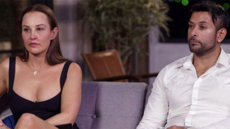 Melissa and Dino called it quits on Sunday night. Photo: Channel Nine