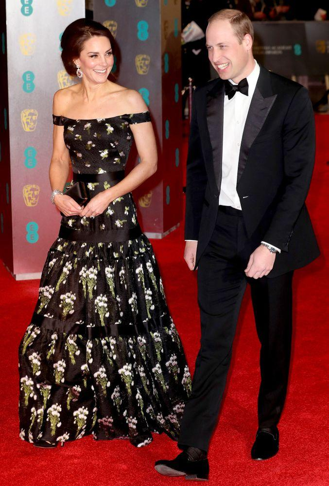 Kate Middleton and Prince William attend the 2017 BAFTAs