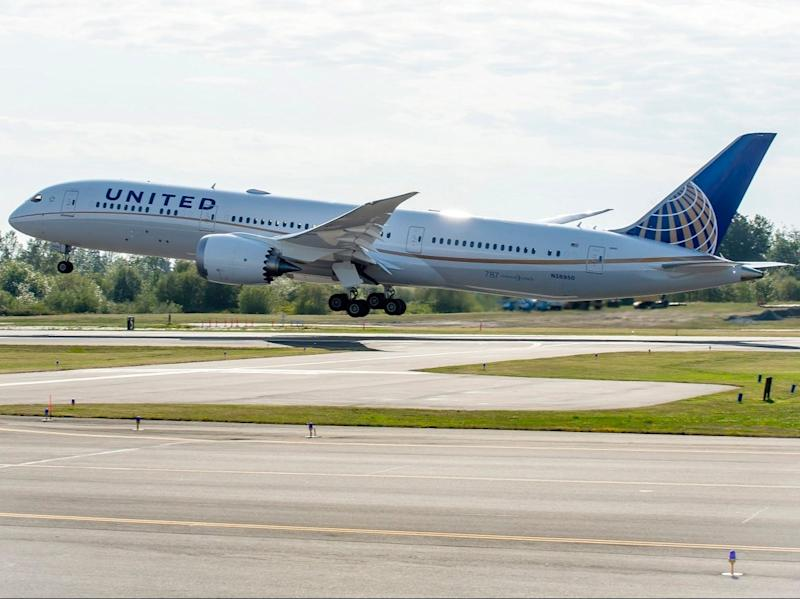 First choice: a United Airlines Boeing 787, the type flown by Dominic Raab (United Airlines)