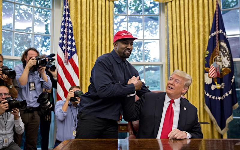 Kany West with Donald Trump - Andrew Harper/Bloomberg
