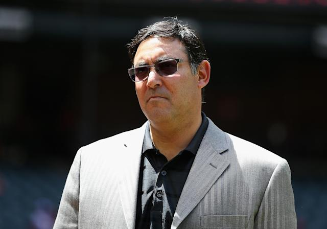 PHOENIX, AZ - APRIL 27: General manager Ruben Amaro of the Philadelphia Phillies walks on the field before the MLB game against the Arizona Diamondbacks at Chase Field on April 27, 2014 in Phoenix, Arizona. (Photo by Christian Petersen/Getty Images)