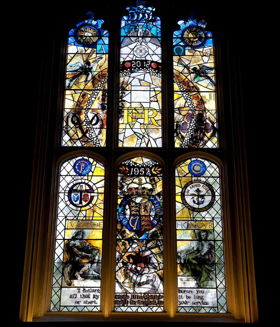 The Queen and the Duke of Edinburgh unveiled the Diamond Jubilee Stained Glass Window at the Queen's Chapel of the Savoy - Eddie Mulholland