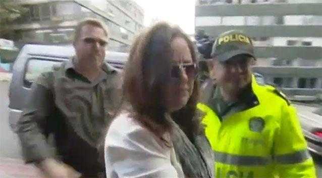 Ms Sainsbury's family arrive for her court appearance. Source: 7 News