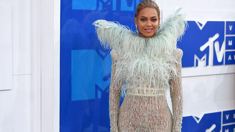 Beyonce arrives at the 2016 MTV Video Music Awards on August 28, 2016 in New York City. (Photo by Nicholas Hunt/FilmMagic)
