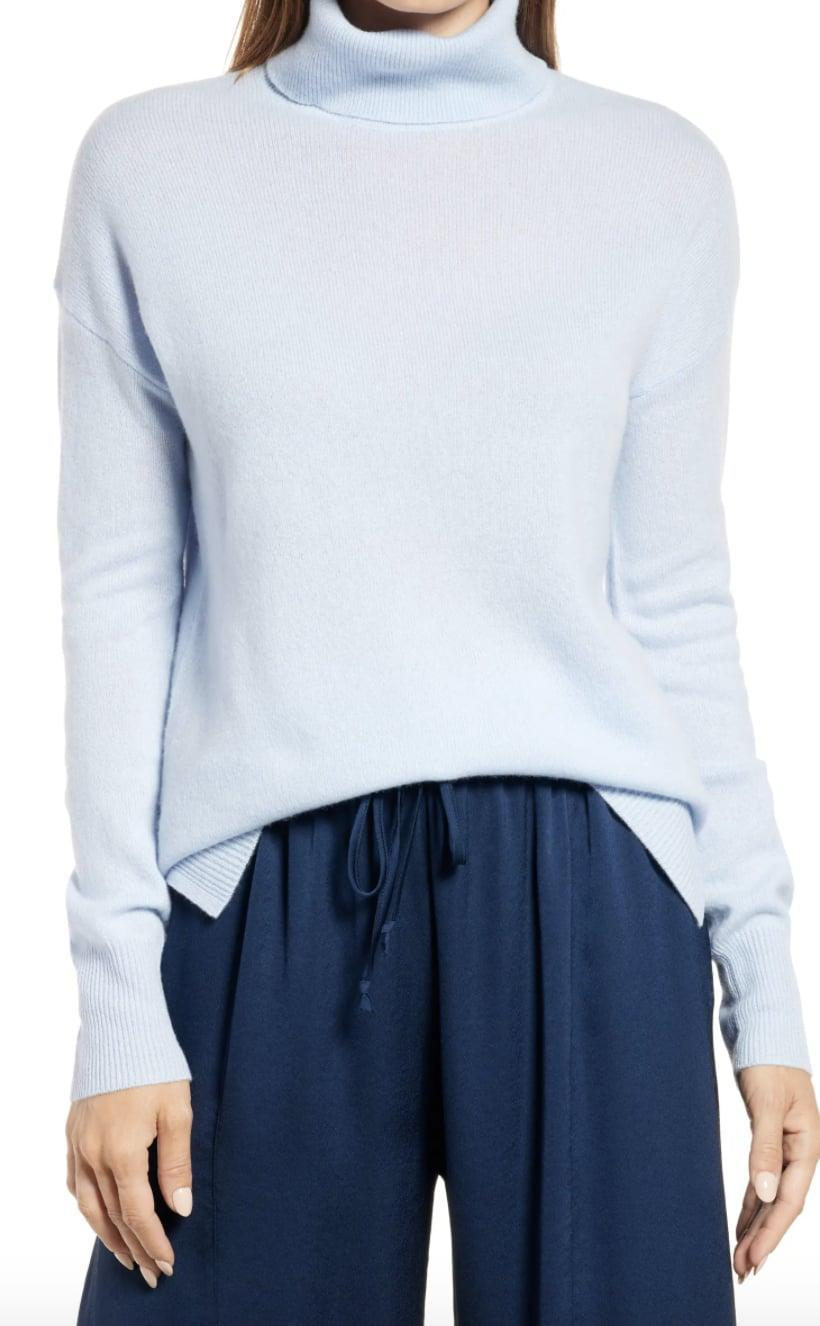 <p>Nothing says luxury quite like cashmere, and you can treat them to this <span>Nordstrom Cashmere Turtleneck Sweater</span> ($119) without breaking the bank. Customers love its soft texture, and it comes in a variety of colors to choose from.</p>