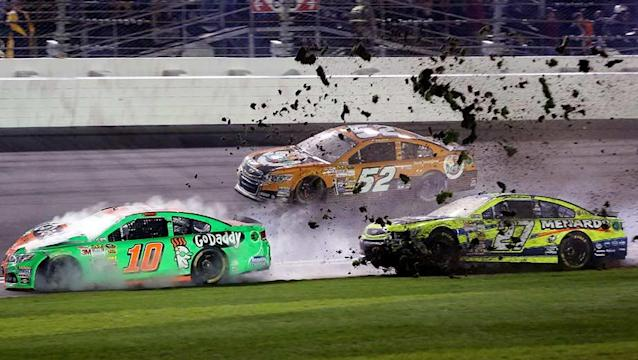 Danica Patrick's Daytona 500 came to an end with a hard crash