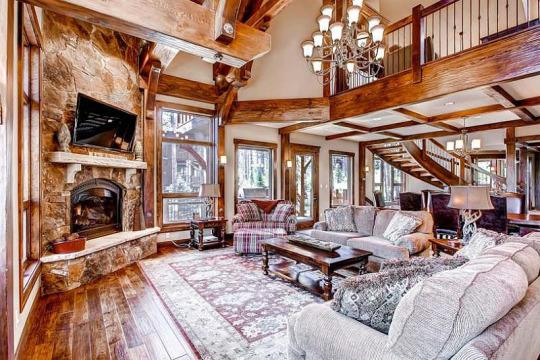 """<p>This <a href=""""http://www.tripadvisor.com/VacationRentalReview-g33327-d8637303-Five_O_Clock_Lodge_Sleeps_22-Breckenridge_Colorado.html"""" target=""""_blank"""">TripAdvisor vacation rental</a> is perfect for a group skiing trip: It's going for $1,300 a night, but with seven bedrooms, you can fit a lot of people in here. The slopes of Breckenridge are just outside, and while inside the swanky confines, you can cozy up by the fireplace, shoot some pool, or play Xbox. And there's an outdoor hot tub too. Nearby activities in the non-skiing season include hiking and golfing.<i> (Photo: TripAdvisor Vacation Rentals)</i></p>"""