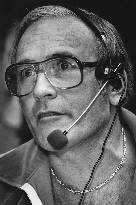 Jim Piersall during his days as a White Sox broadcaster. (Daily Herald via AP)