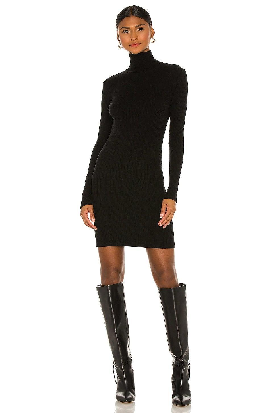 <p>A turtleneck is a fall and winter essential. This <span>Enza Costa Tencel Cashmere Rib Long Sleeve Zip Turtleneck Mini Dress</span> ($297) is made of luxurious cashmere, which is a dream.</p>