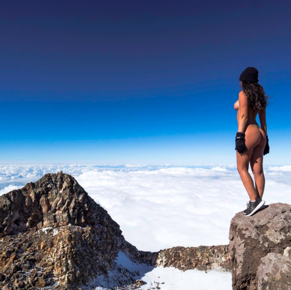 This naked shot shared to Instagram has allegedly upset Maori locals in New Zealand [Photo: Instagram/jaylenecook_]