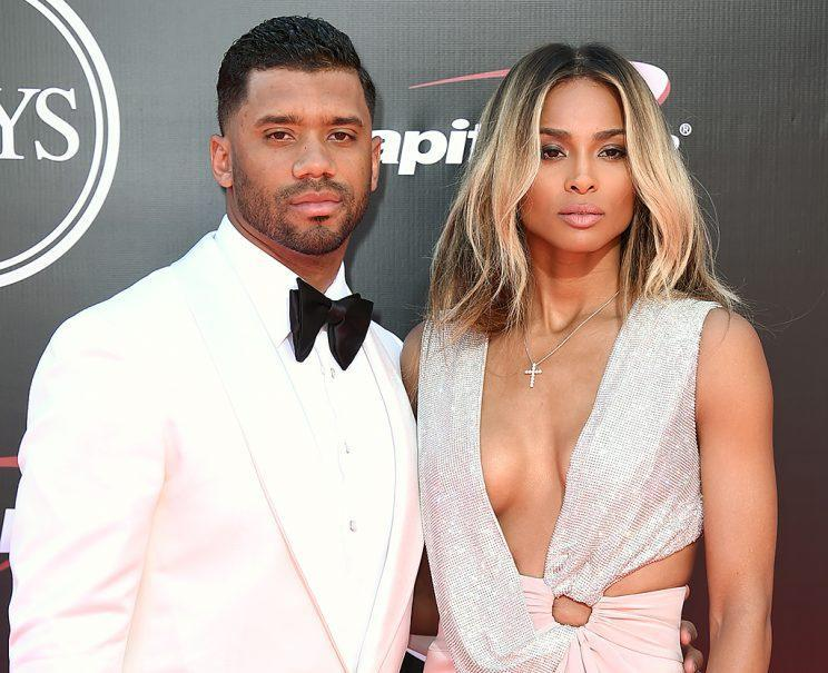 Russell Wilson and Ciara arrive at the ESPY Awards