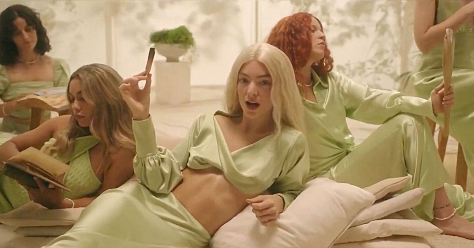 Lorde in the Mood Ring music video.
