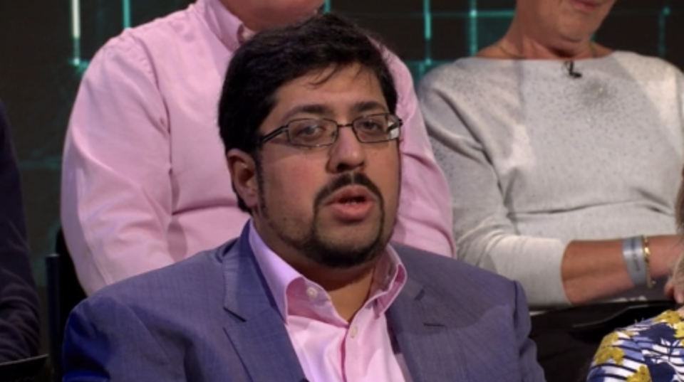 Fahad Sayood quizzed the leaders about trust. (ITV)