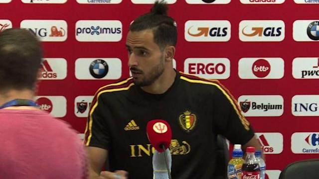 Belgium say they're confident heading into the World Cup quarter-finals against France after a victory against Brazil, but say the match won't be easy, with Belgian midfielder Nacer Chadli comparing French forward Kylian Mbappe to Argentina star Lionel Messi.