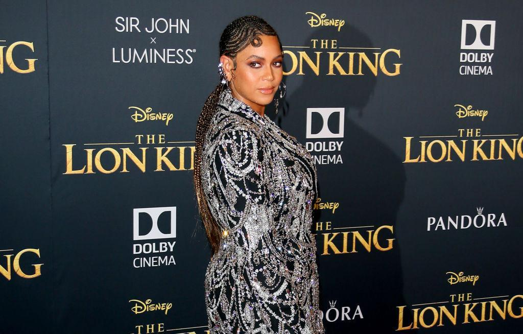 Beyoncé makes a stunning, blink-and-you'll-miss-it appearance at the 'Lion King' world premiere