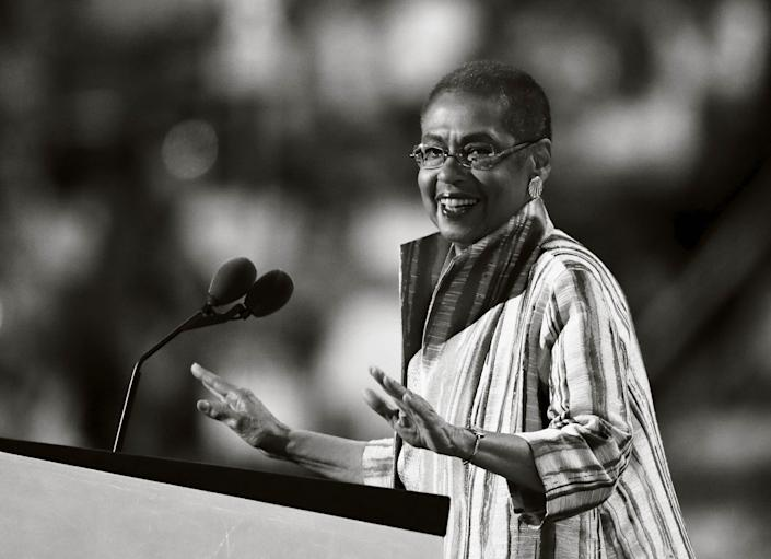 Eleanor Holmes Norton, congressional delegate from Washington, D.C., speaks during the third day of the Democratic National Convention in Philadelphia, on July 27, 2016.