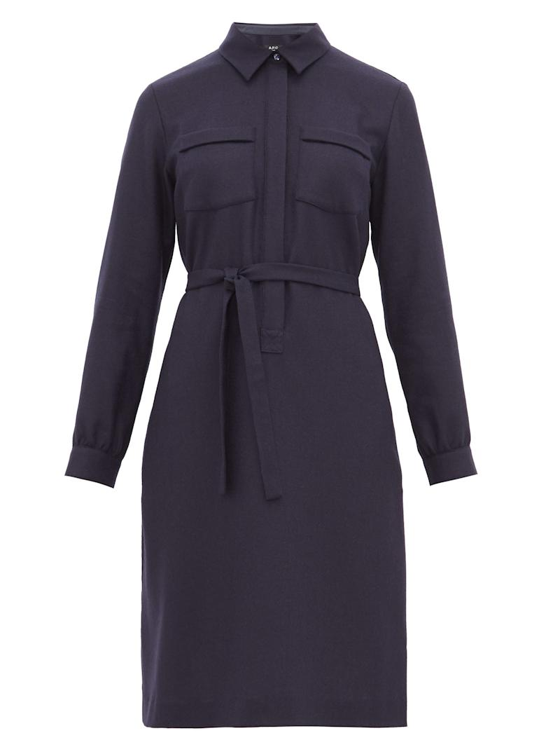 A.P.C Angele wool shirtdress