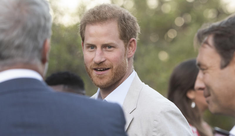 CAPE TOWN, SOUTH AFRICA - SEPTEMBER 24: Prince Harry during The Duke and Duchess Youth Reception at the British High Commissioner?s Residence at Bishopscourt on September 24, 2019 in Cape Town, South Africa. The Duke and Duchess met a cross-section of inspiring opinion-formers and young future leaders - underlining the rich and diverse nature of the UK?s modern partnership with South Africa. (Photo by Brenton Geach/Gallo Images via Getty Images)