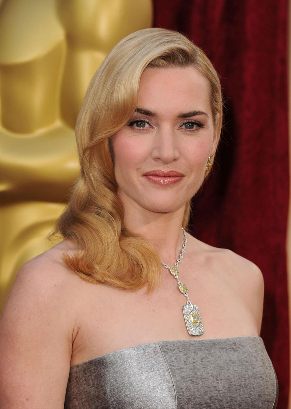 The Art Deco lines of Kate Winslet's stunning pendant reference Tiffany and Co.'s history, but the Oscar winner's bling was created especially for her. Anchored by a unique set of yellow diamonds, the piece was later valued at $2.5 million.