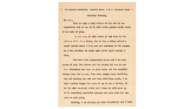 One of Ian Fleming's letters to his wife Ann