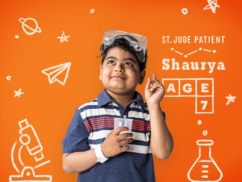 Shaurya's dream is to become a scientist. With the help of St. Jude Children's Research Hospital®, he's making plans to overcome acute lymphoblastic leukemia and make the world better when he grows up.