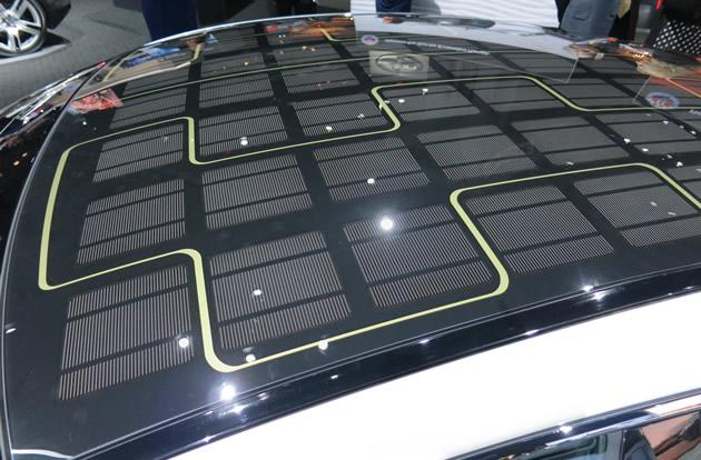 Solar panel on the 2013 Fisker Karma