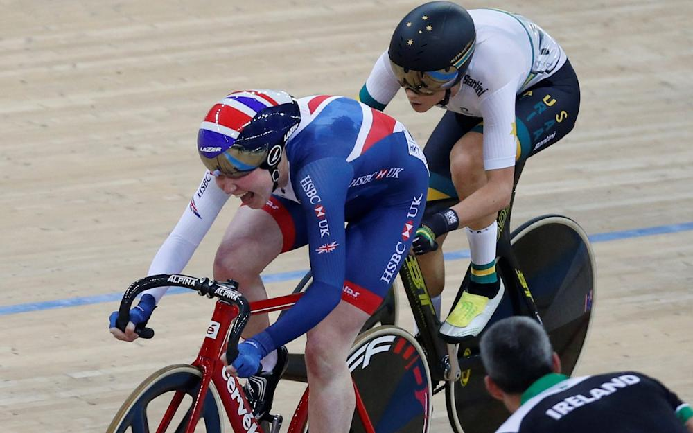Katie Archibald -Katie Archibald on top of the world after winning Britain's first gold of 2017 Track Cycling World Championships - Credit: REUTERS