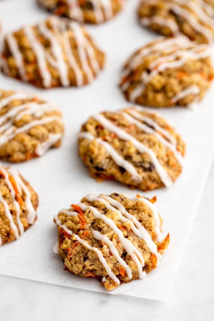 """<p>Who says you have to wait until Easter?</p><p>Get the recipe from <a href=""""https://www.delish.com/cooking/recipe-ideas/recipes/a50448/carrot-cake-cookies-recipe/"""" rel=""""nofollow noopener"""" target=""""_blank"""" data-ylk=""""slk:Delish"""" class=""""link rapid-noclick-resp"""">Delish</a>. </p>"""